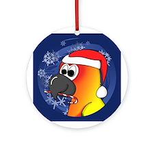 Candy Cane Sun Conure Christmas Ornament