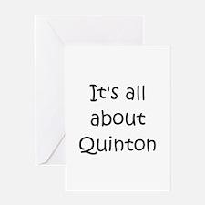 Unique Quinton Greeting Card