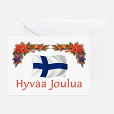 Finland Hyvaa Joulua 2 Greeting Cards (Pk of 10)