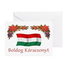 Hungary Boldog...2 Greeting Cards (Pk of 10)