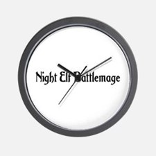 Night Elf Battlemage Wall Clock