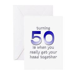 Turning 50 Birthday Cards(Pk of 10)