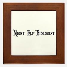 Night Elf Biologist Framed Tile