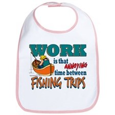 Work vs Fishing Trips Bib