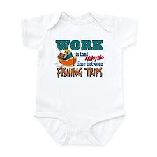 Work vs Fishing Trips Infant Bodysuit