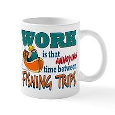Work vs Fishing Trips Mug