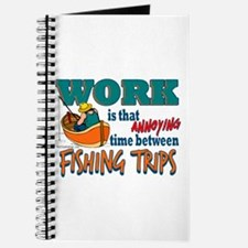 Work vs Fishing Trips Journal