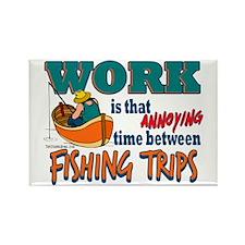 Work vs Fishing Trips Rectangle Magnet