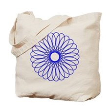 Blue Spirograph Tote Bag