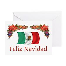 Mexico Feliz Navidad 2 Greeting Cards (Pk of 10)
