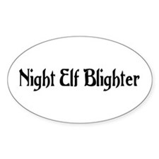 Night Elf Blighter Oval Decal