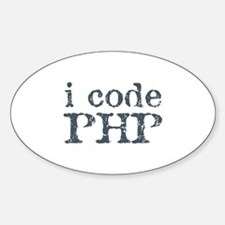 i code php Oval Decal