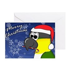 Cndy Black Headed Caique Christmas Cards (10 Pack)