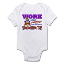 Work vs Snowmobiling Trips Infant Bodysuit