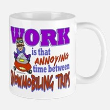 Work vs Snowmobiling Trips Mug