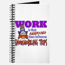 Work vs Snowmobiling Trips Journal