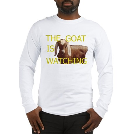 GOAT IS WATCHING Long Sleeve T-Shirt