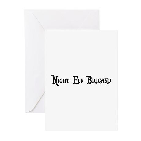 Night Elf Brigand Greeting Cards (Pk of 10)