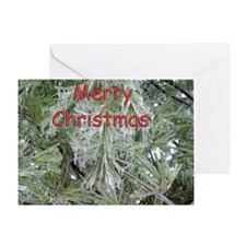Icy Evergreen Christmas Card