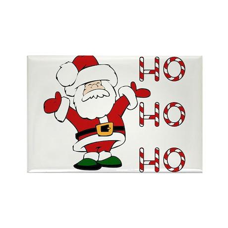 Ho Ho Ho Santa Rectangle Magnet
