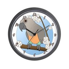 Flower Red Bellied Parrot Clock