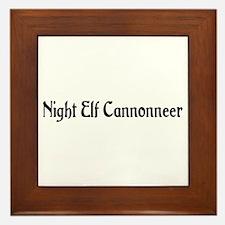 Night Elf Cannonneer Framed Tile