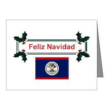 Belizean Feliz Navidad Note Cards (Pk of 10)