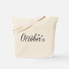 3 Rainbow Stars Due October Tote Bag