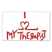 my therapist Rectangle Decal