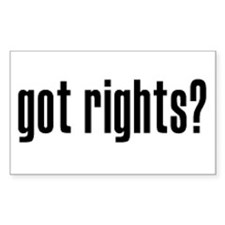 Got Rights? Rectangle Decal