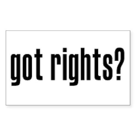 Got Rights? Rectangle Sticker