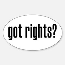 Got Rights? Oval Decal