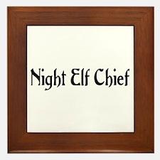 Night Elf Chief Framed Tile