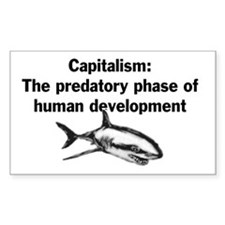 Predatory Capitalism Rectangle Decal
