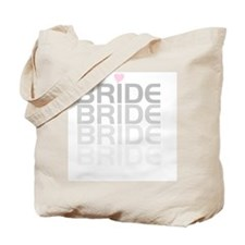 Faded Gray Text Bride Tote Bag