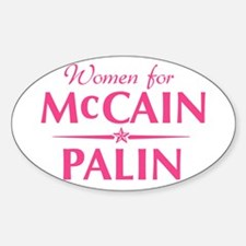 Women for McCain/Palin Oval Decal