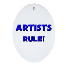 Artists Rule! Oval Ornament