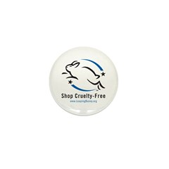 Leaping Bunny (Mini Button -- 10 pack)
