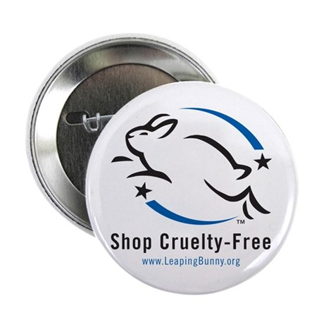 """Leaping Bunny (2.25"""" Button -- 10 pack)"""