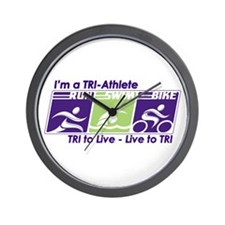 TRI-Athlete Wall Clock