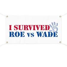 Roe vs Wade (hand) Banner