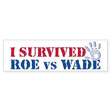 Roe vs Wade (hand) Bumper Bumper Sticker