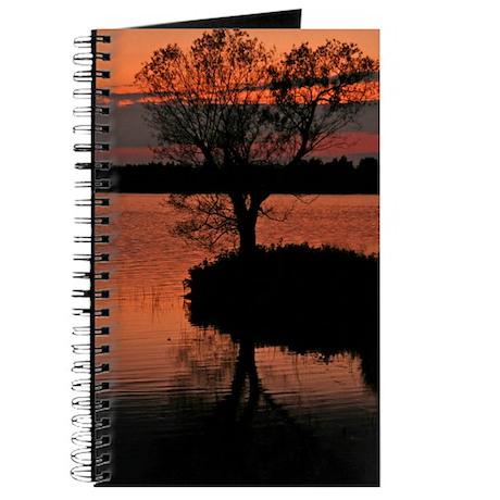 Beautiful Sunset Tree Silhouette Journal