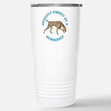 Proudly Owned Weimaraner Travel Mug