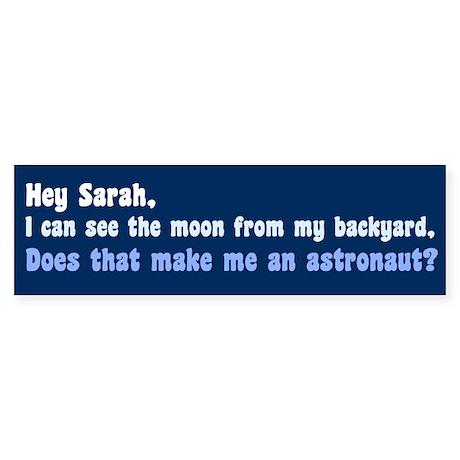 Anti Sarah Palin Bumper Sticker