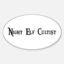 Night Elf Cultist Oval Decal