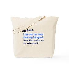 Anti Sarah Palin Tote Bag
