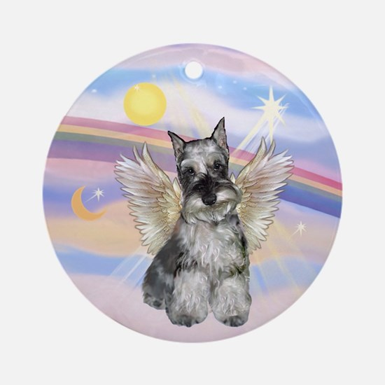 Schnauzer Angel Keepsake (Round)