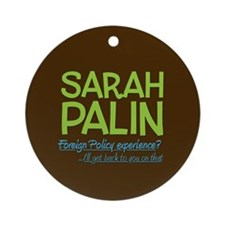Inexperienced Palin Keepsake Ornament (Round)