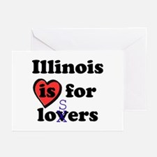 Illinois Is For Losers Greeting Cards (Package of